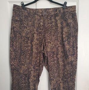 Snakeskin print jeans